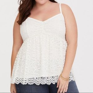 Torrid Ivory Lace Babydoll Cami